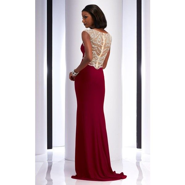 Clarisse 2729 Prom Long Dress Long High Neckline Short Sleeve ($398 ...