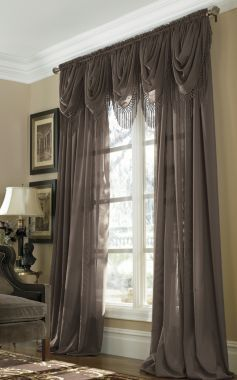 Jcp Home Snow Voile Rod Pocket Semi Sheer Panel Beautiful Houses Interior Home Home Decor