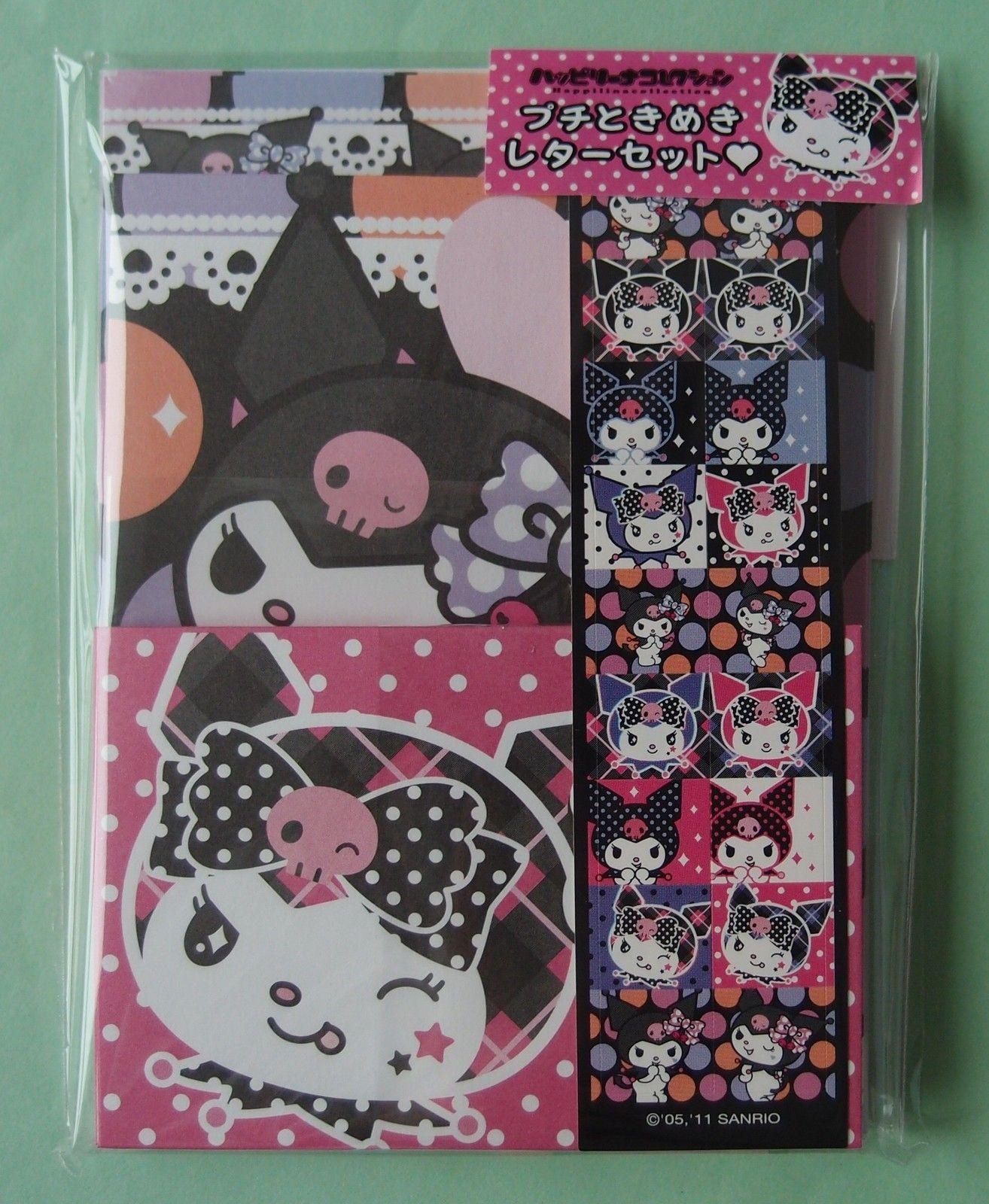 $9.99 Sanrio Kuromi Mini Letter Set Brand New Pack | eBay