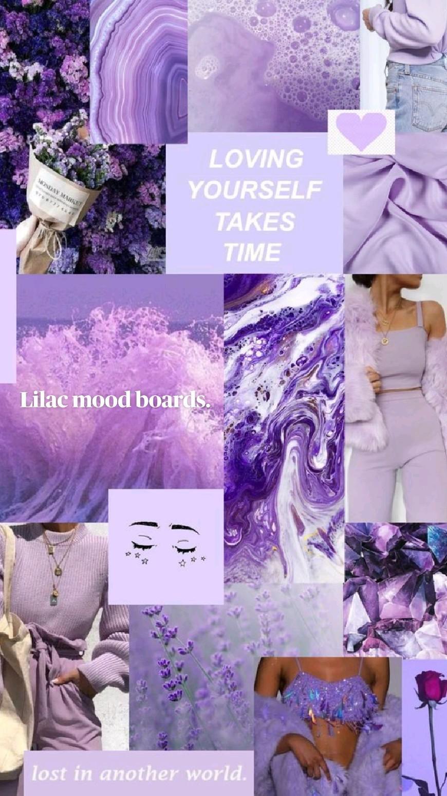 Lilac mood boards.