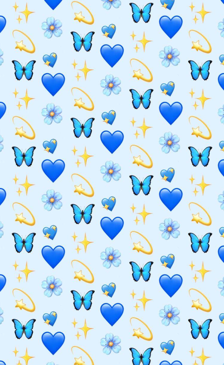 Photo By Dexhornet Emoji Wallpaper Iphone Wallpaper Iphone Cute Emoji Wallpaper Emoji wallpaper hd blue