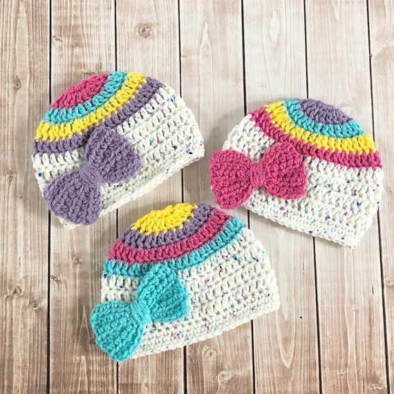 This super soft beanie is perfect for your little princess and will keep  her head nice and warm. It is made out of 100% acrylic yarn. The bow is  securely ... a4b21d90ee8d