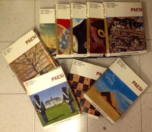 "ENCICLOPEDIA "" PAESI "" completa anni 60' ... vintage edizione VALLARDI"