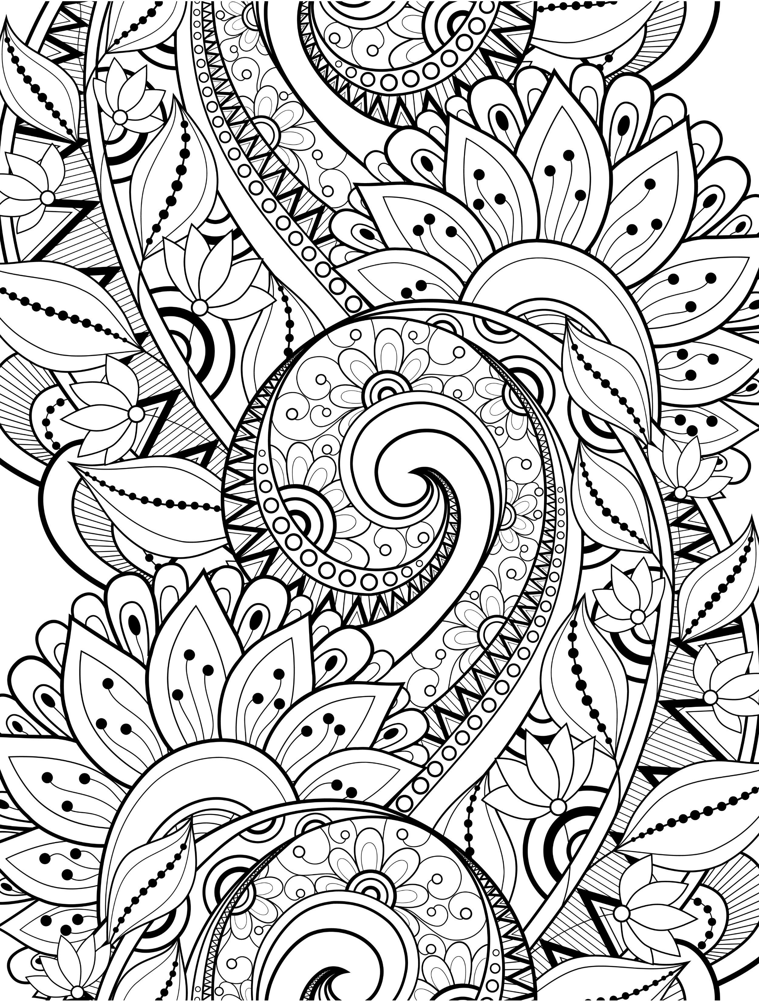 Crazy Coloring Pages 15 Crazy Busy Coloring Pages For Adults  Page 6 Of 16  Crazy