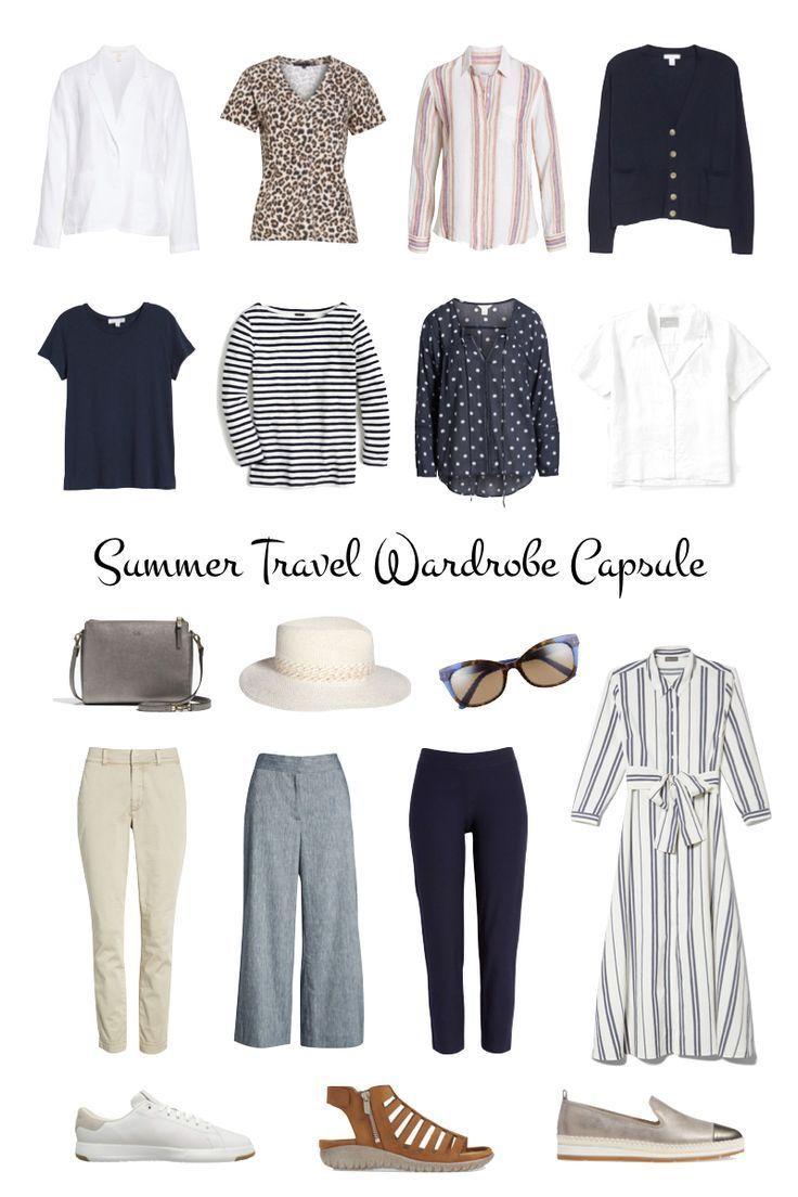 12-Piece Summer Travel Wardrobe Capsule - une femme d'un certain âge