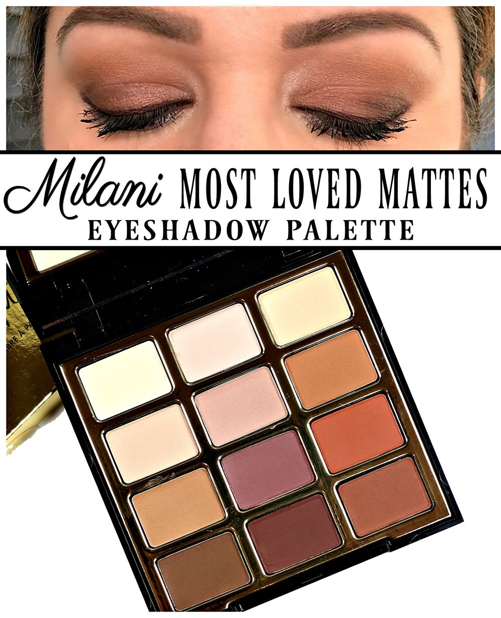 milani most loved mattes eyeshadow palette swatches, review