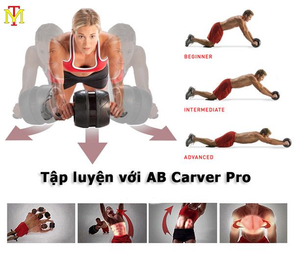 tác dụng của con lăn tập cơ bụng ab carver pro