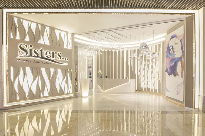 Sisters Beauty Lounge By Brand Creative Dubai Uae Salon Interior Design Interior Design Books Interior Design Dubai,Most Popular T Shirt Designs