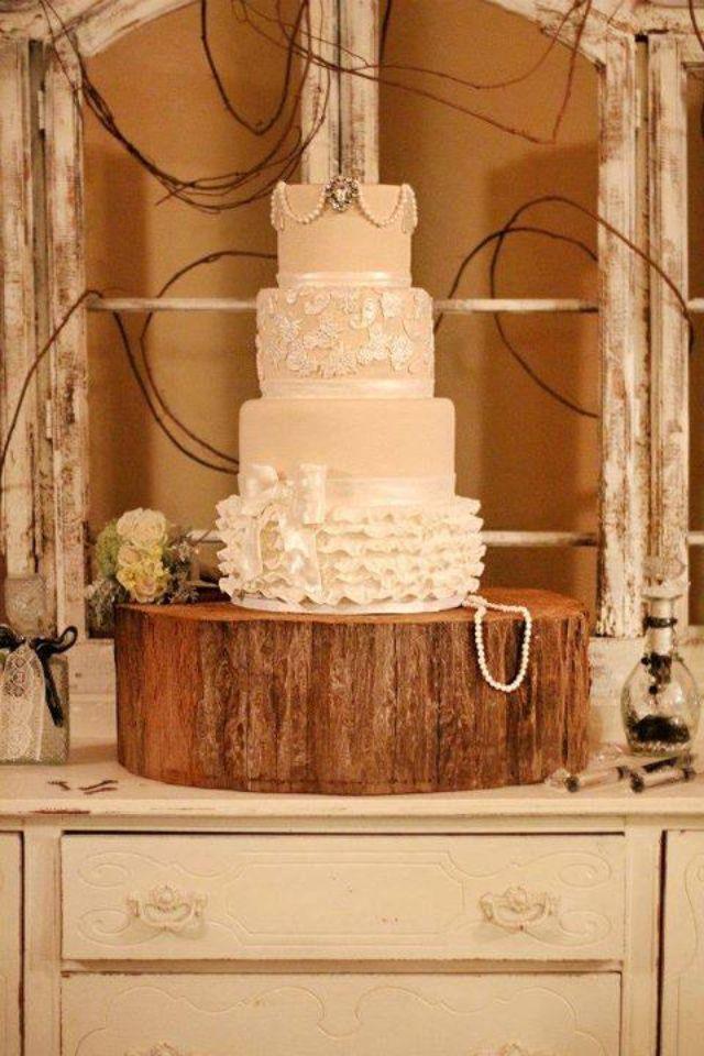 Rustic wedding cake | LOVE || WEDDING CAKE | Pinterest | Rustic ...