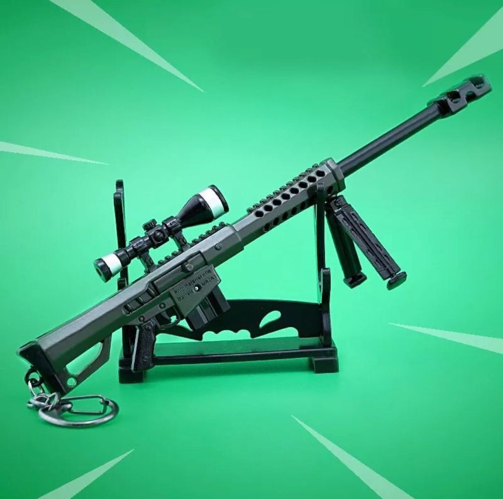 Fortnite Collectible Weapon Heavy Sniper Rifle Model Figure Keychain