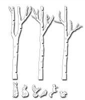 Frantic Stamper Precision Die - Birch Tree Forest
