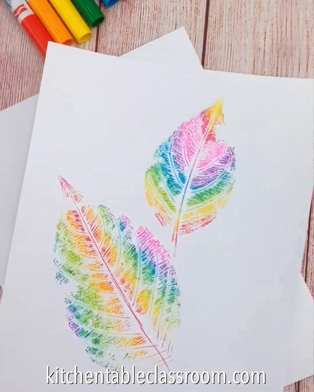 COLORFUL LEAF ART IDEA
