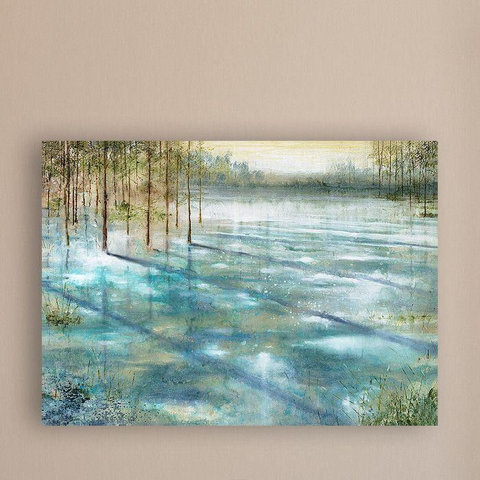 Water Trees Canvas Print Amp Reviews Joss Amp Main Blue