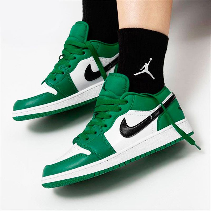 553558 301 Air Jordan 1 Low Pine Green New Sale In 2020 Air Jordans Jordan 1 Low Nike Air Shoes