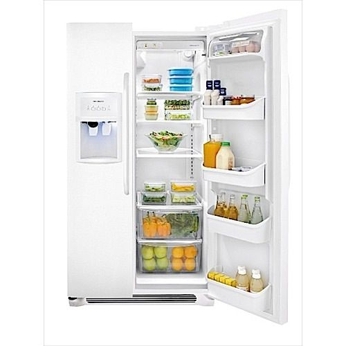 Frigidaire 23 Cu Ft White Side By Side Refrigerator Aarons