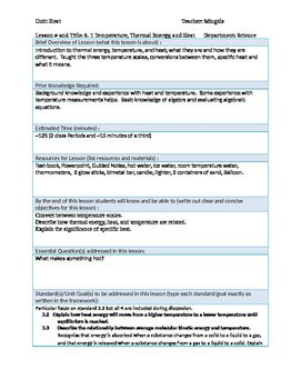 physics 6 1 thermal energy heat and temperature lesson plan heat rh pinterest com