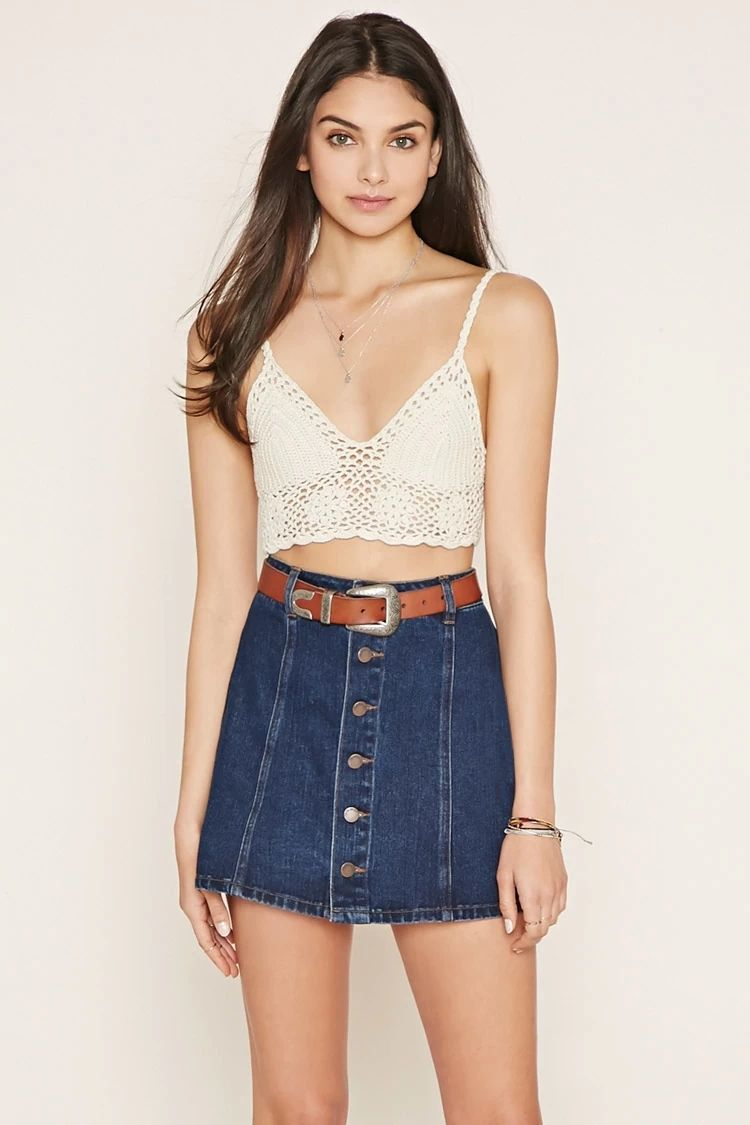 9ae9e15f3 Crochet Crop Top #thelatest. Crochet Crop Top #thelatest Topshop High  Waisted Jeans ...
