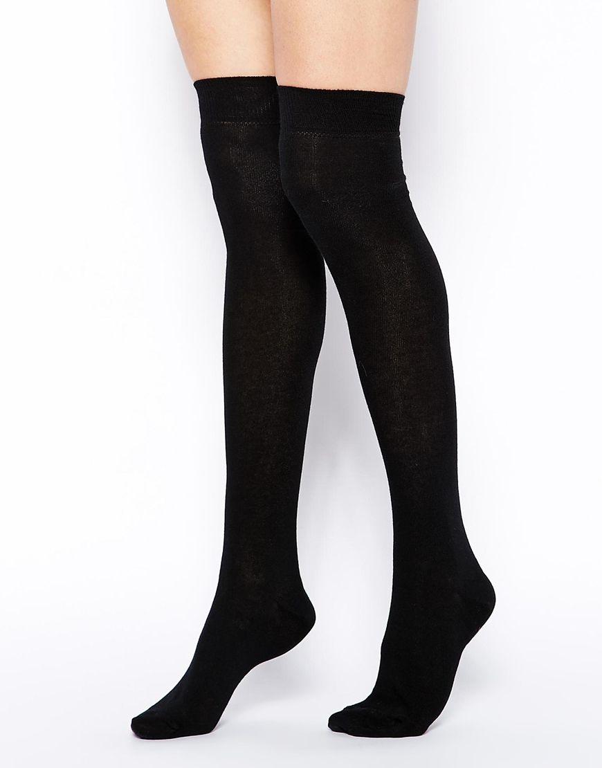 Calcetines por encima de la rodilla de | outfit | Pinterest | Medias ...