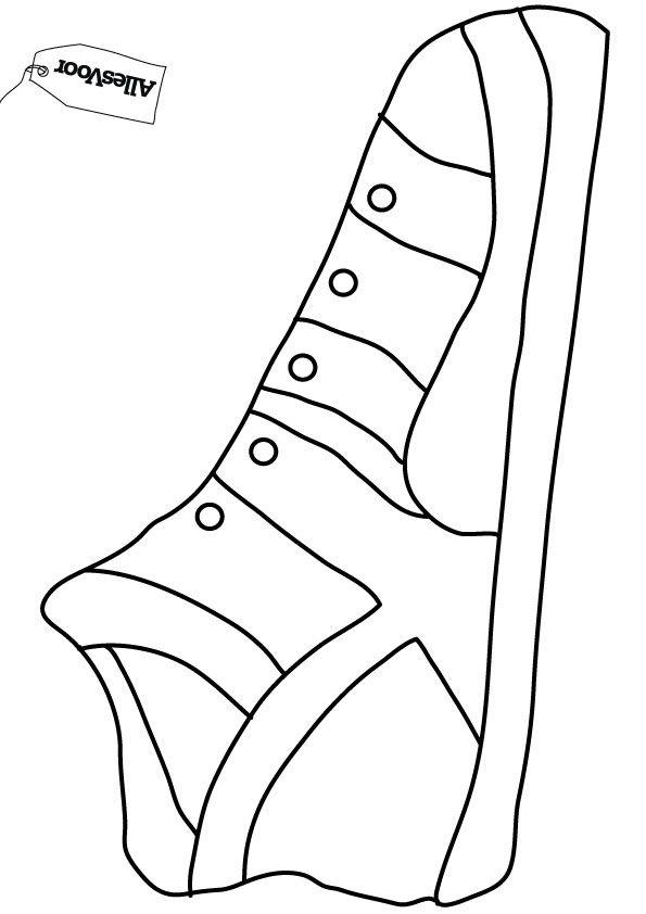 schoentje kleurplaat vouwen sinterklaas knutselwerkje