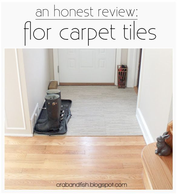 Crab Fish An Honest Review Flor Carpet Tiles In The Entryway