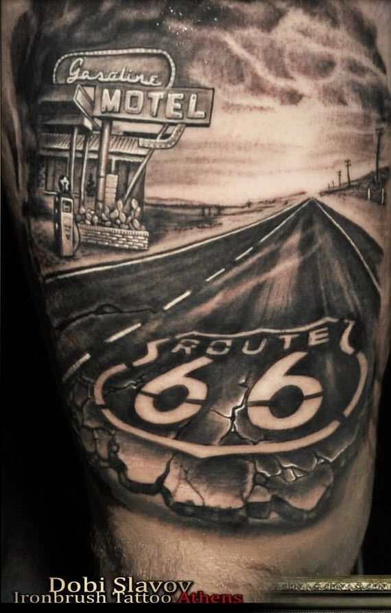 resultado de imagen de route 66 tattoo tetov n pinterest tattoo route 66 and tatoo. Black Bedroom Furniture Sets. Home Design Ideas