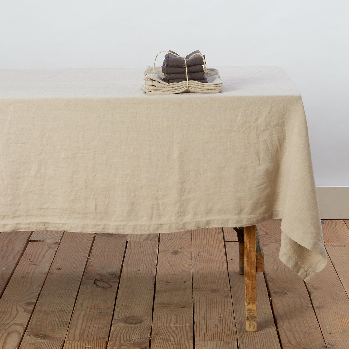 Washed Linen Tablecloth   Linen tablecloth, Linens and Shop ideas
