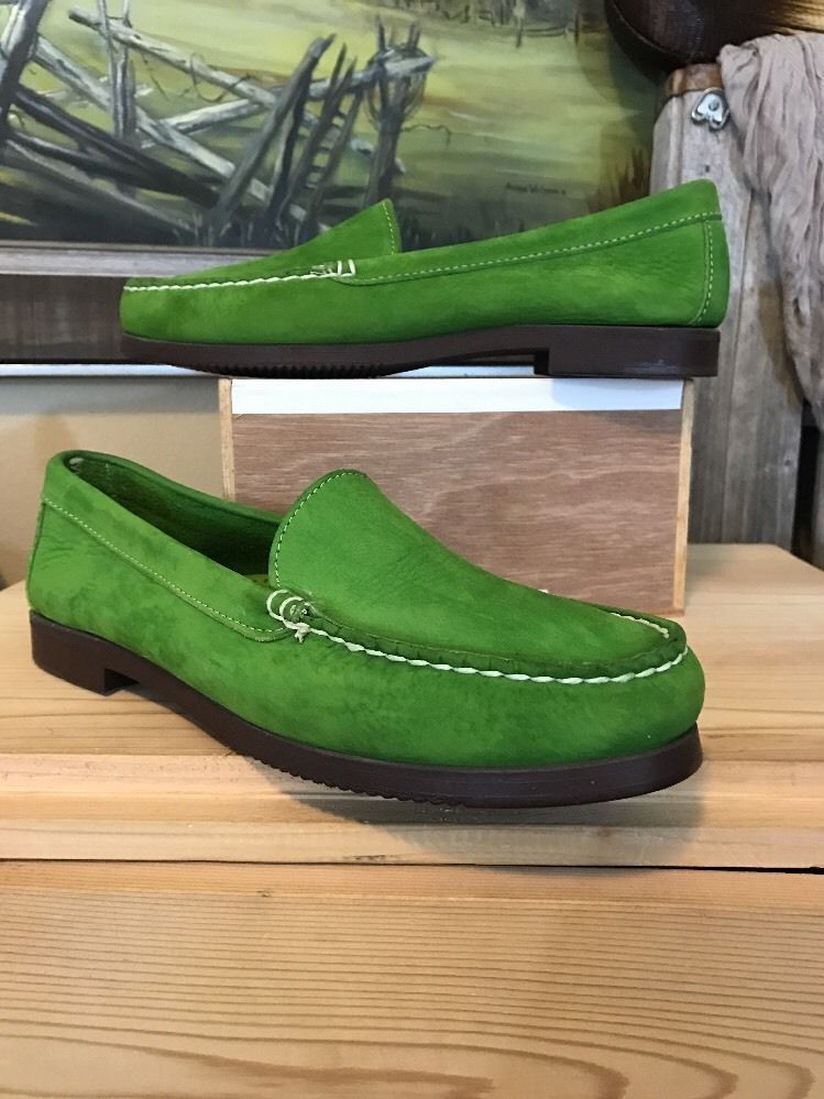 Women's Dexter Suede Lime Green Slip On Loafers 8 8.5 M USA