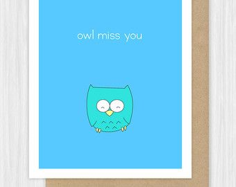 Funny Miss You Card Lion Pun Missing Thinking Of Goodbye