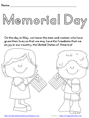 Memorial Day Coloring Page FREEBIE! from first_grade_fantabulous on ...