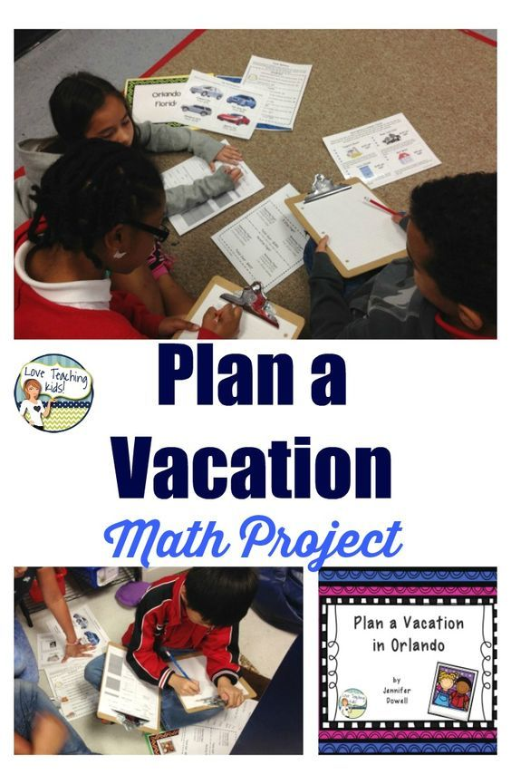 Plan A Vacation End Of The Year Math Project By Love Teaching Kids Math Projects Project Based Learning Math Teaching Kids