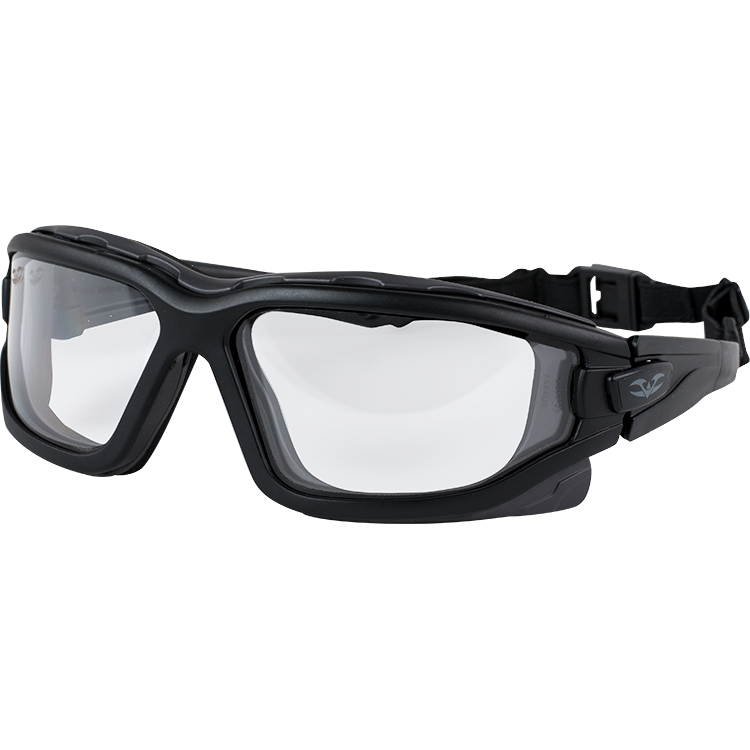 Valken Tactical Echo Airsoft Goggle Black with Clear Lens New Anti Fog Lens