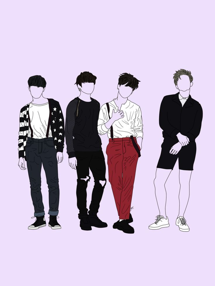 BTS Simple Fanart | >> Kpop Art