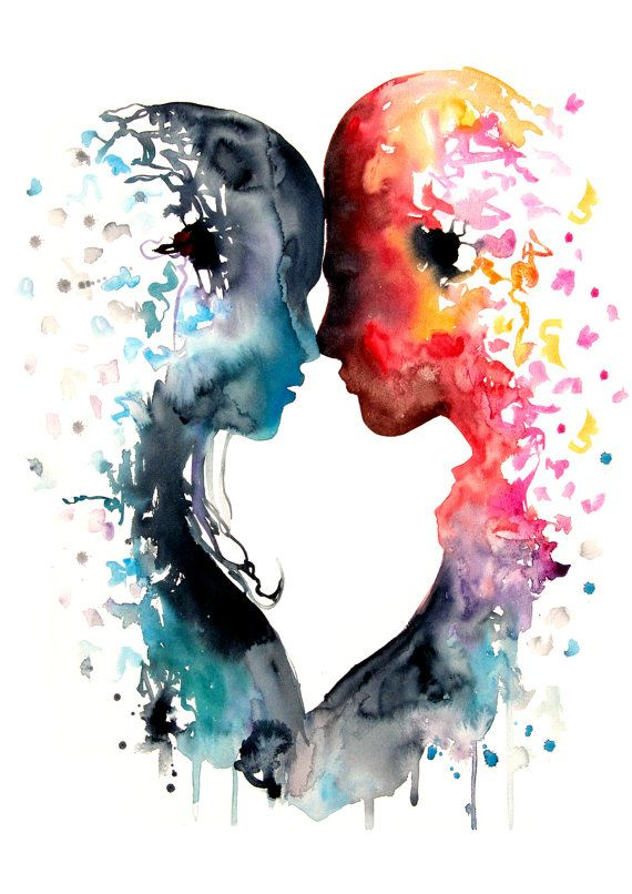 Epingle Par Heather Topic Sur Watercolor Art Amour Illustration
