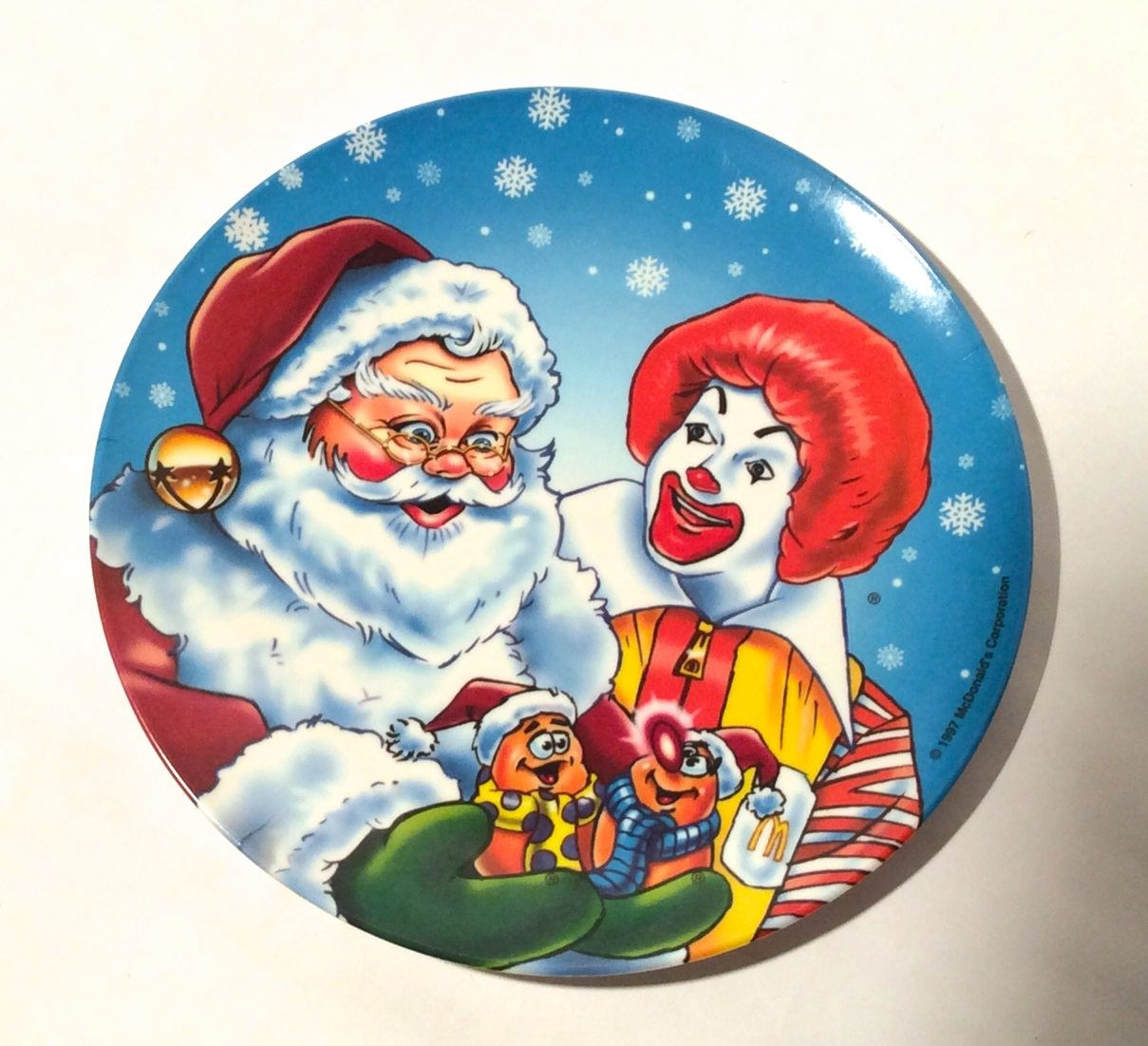 Vintage 1990s Santa and Ronald McDonald with Chicken Nuggets Christmas Holiday Plastic Plate So cute!  sc 1 st  Pinterest & Vintage 1990s Santa and Ronald McDonald with Chicken Nuggets ...