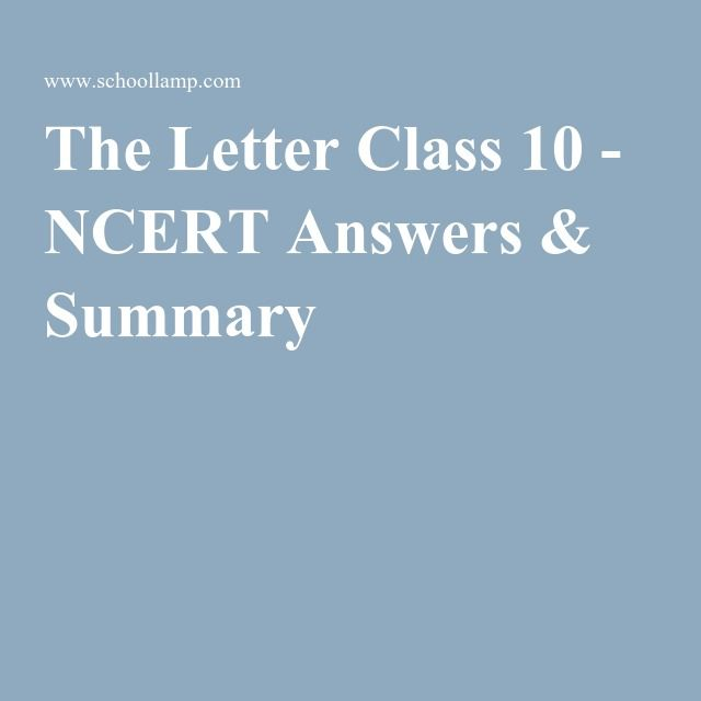 The letter class 10 ncert answers summary schools list ncert solutions for class 10 english unit 3 the letter class 10 ncert solutions and summary english literature reader get solutions in pdf form online fandeluxe Gallery