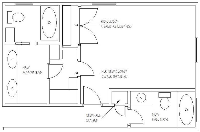 Remodeling Master Bathroom Floor Plans No Tub Designs