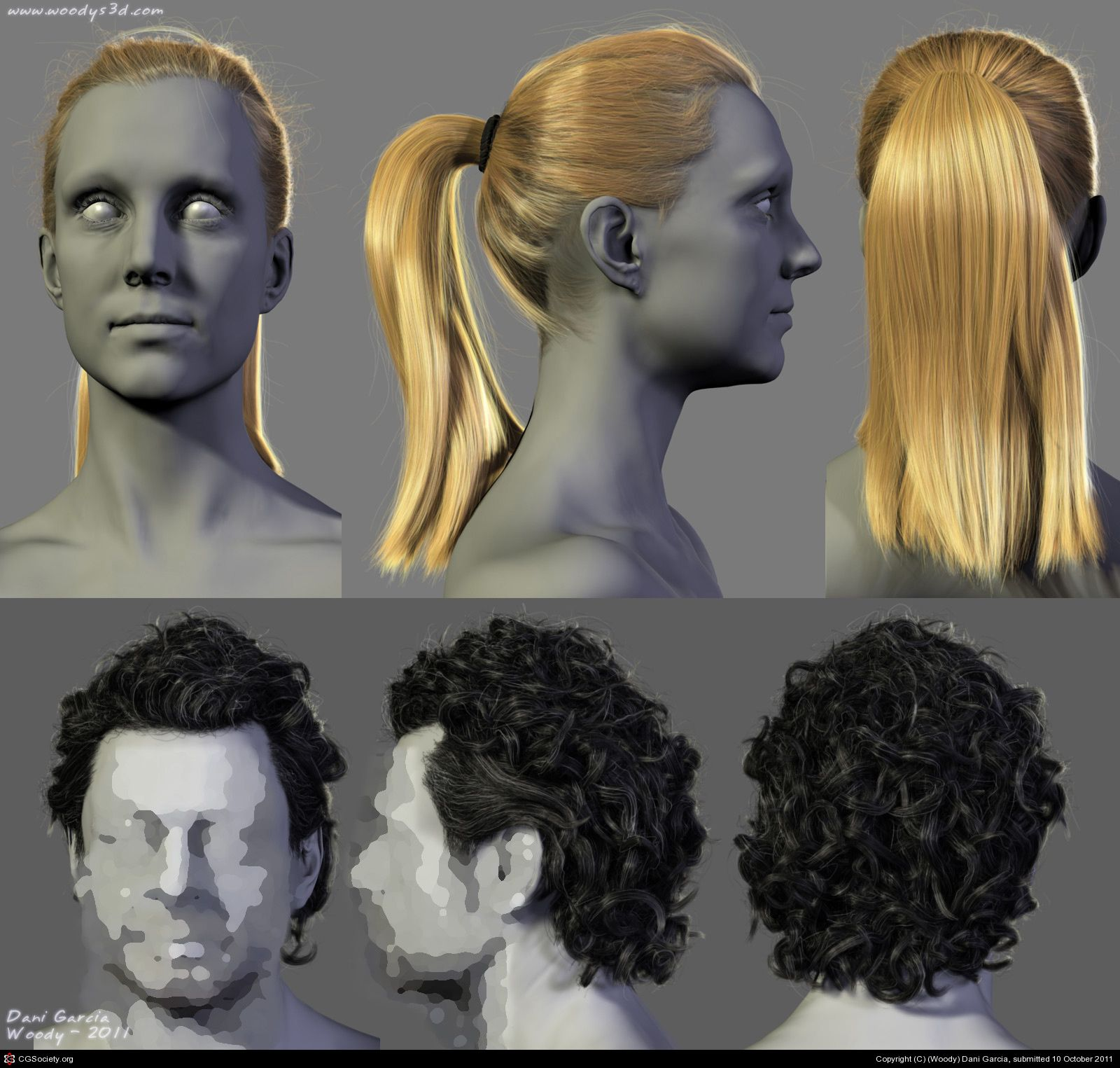 Male And Female Hairstyles By Woody Dani Garcia 3d Womens Hairstyles Hair Styles Hair And Beard Styles