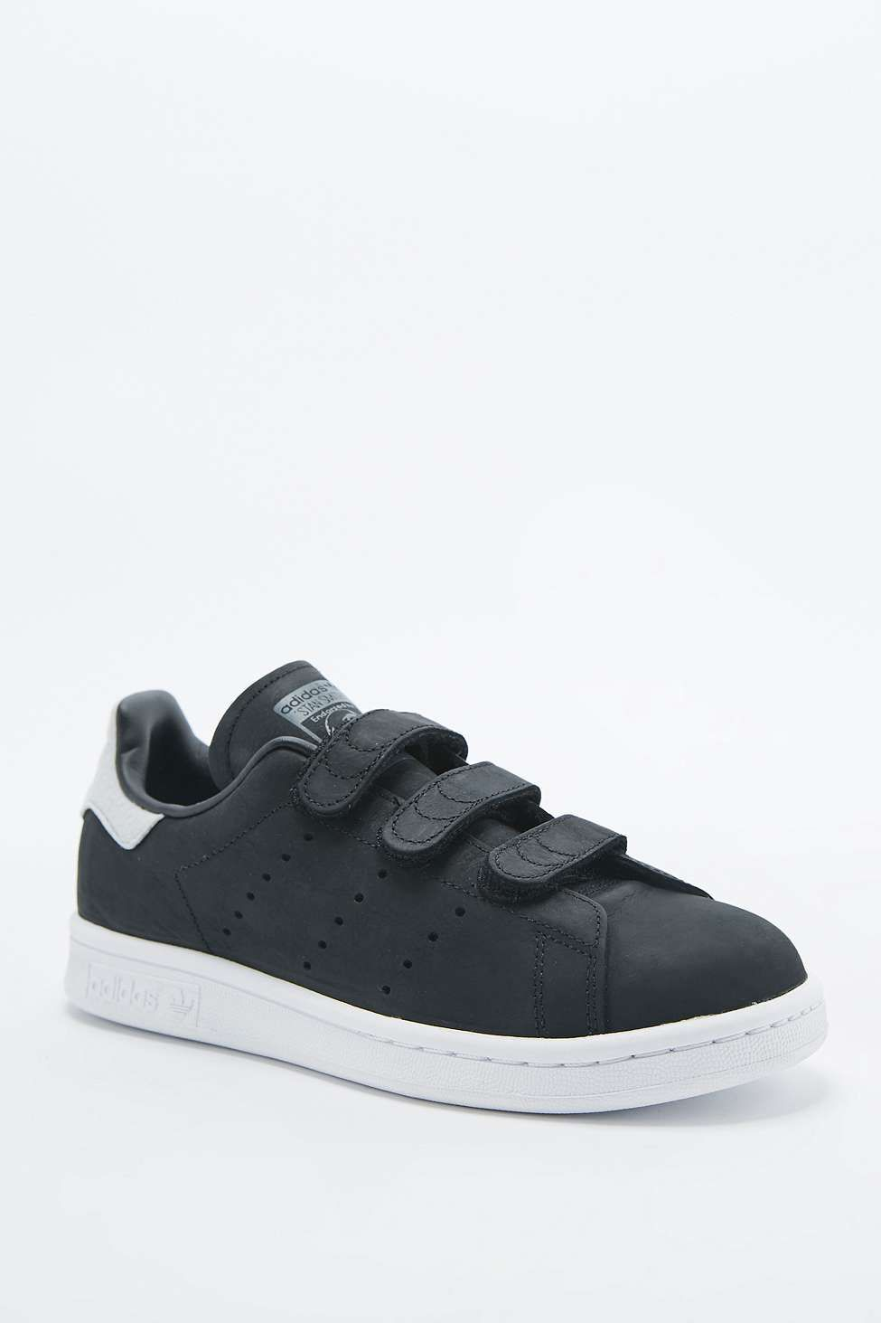 quality design 27952 d5c5a adidas Originals Stan Smith Black Velcro Trainers