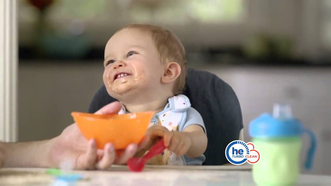 Tide HE Turbo Clean Baby Food tv commercial ad 2015 HD • advert ...