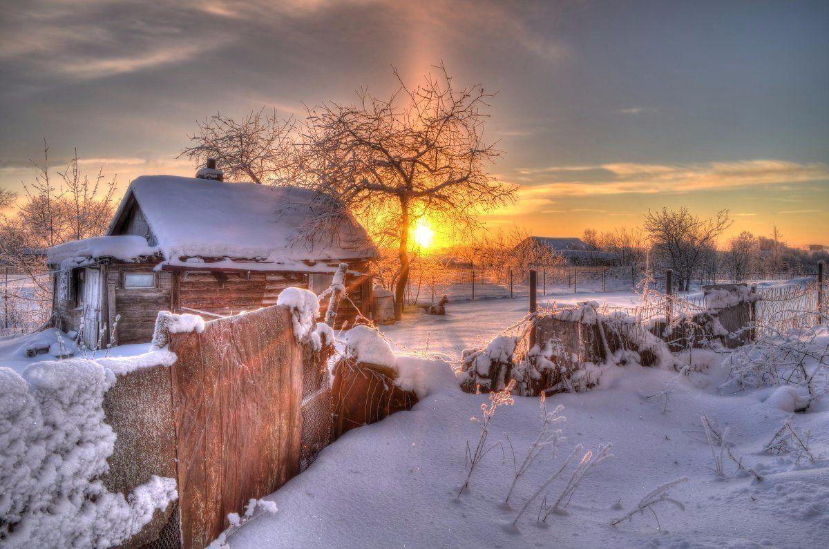 Картинки зимы с надписями о родном доме