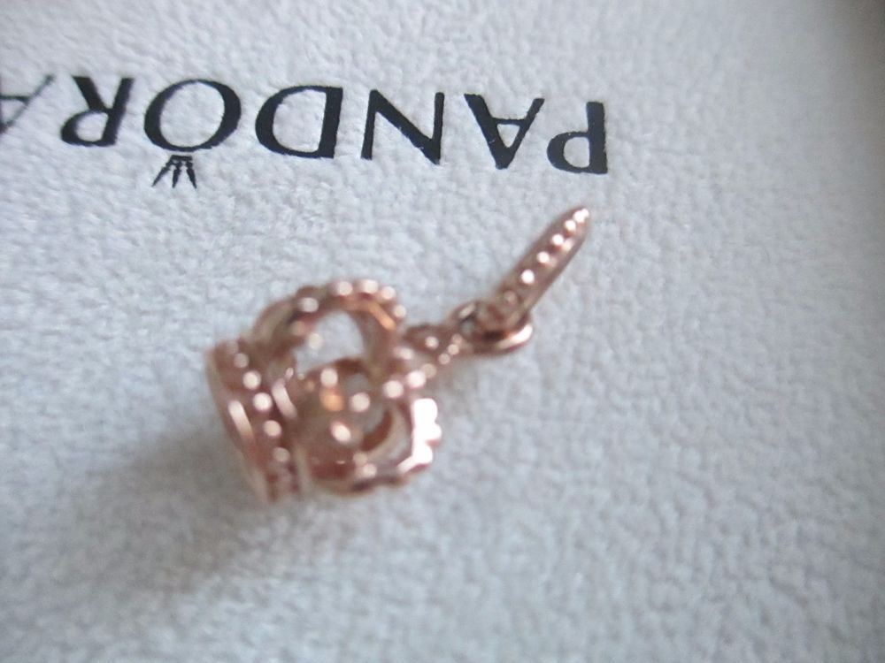 6b12e8c4d Authentic PANDORA Rose GOLD CROWN Dangle CHARM 781376 #Pandora ...