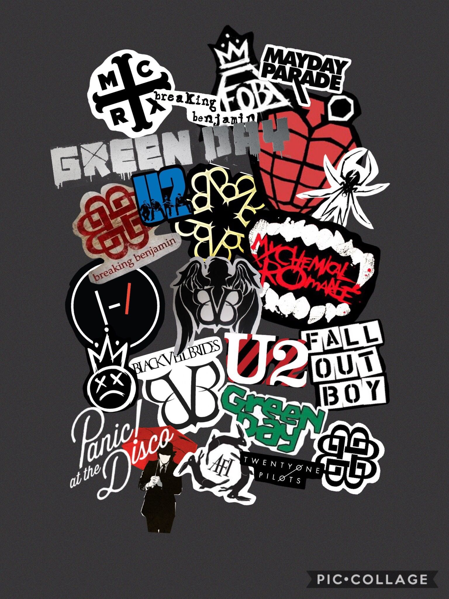 my lockscreen all the bands I like, even the ones I