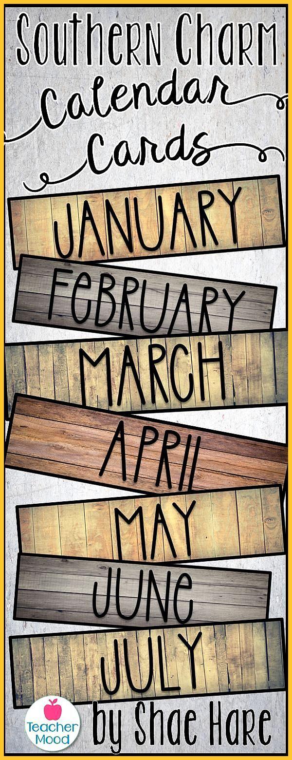Classroom Calendar Cards Southern Charm Morning Meeting Farmhouse Decor Add some Farmhouse Charm to