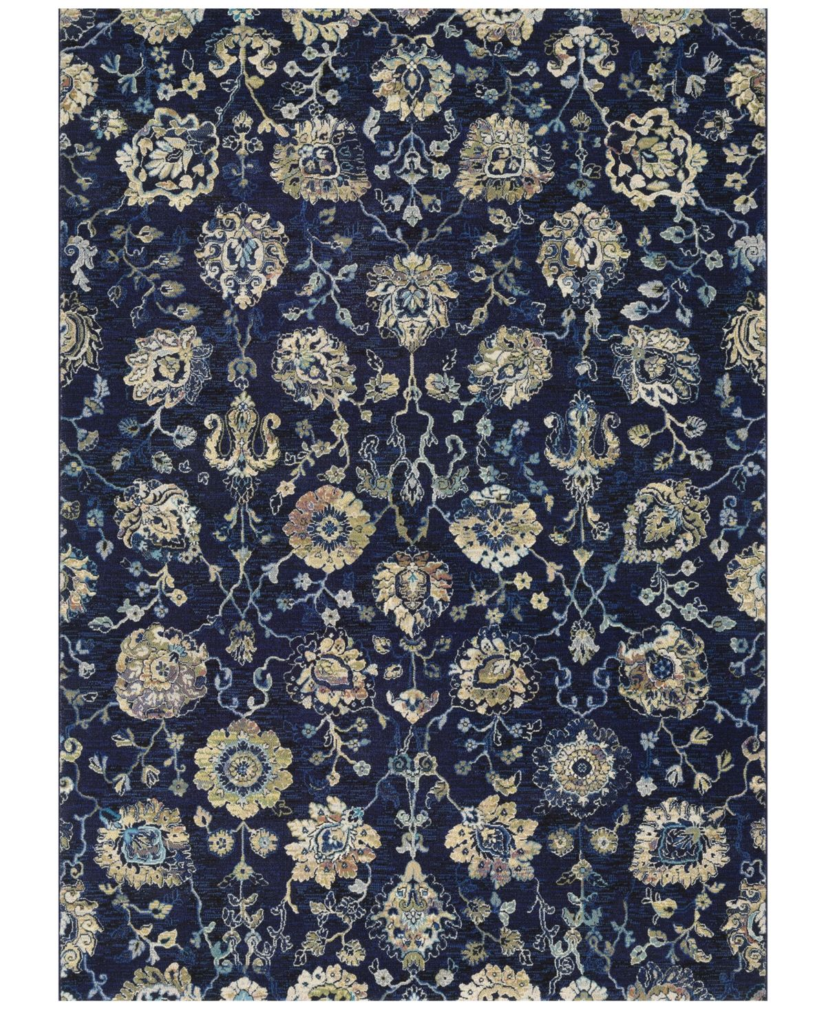 Couristan Taylor Adaline Navy Cream 2 7 X 7 10 Runner Rug Reviews Rugs Macy S Area Rugs Where To Buy Carpet Rugs