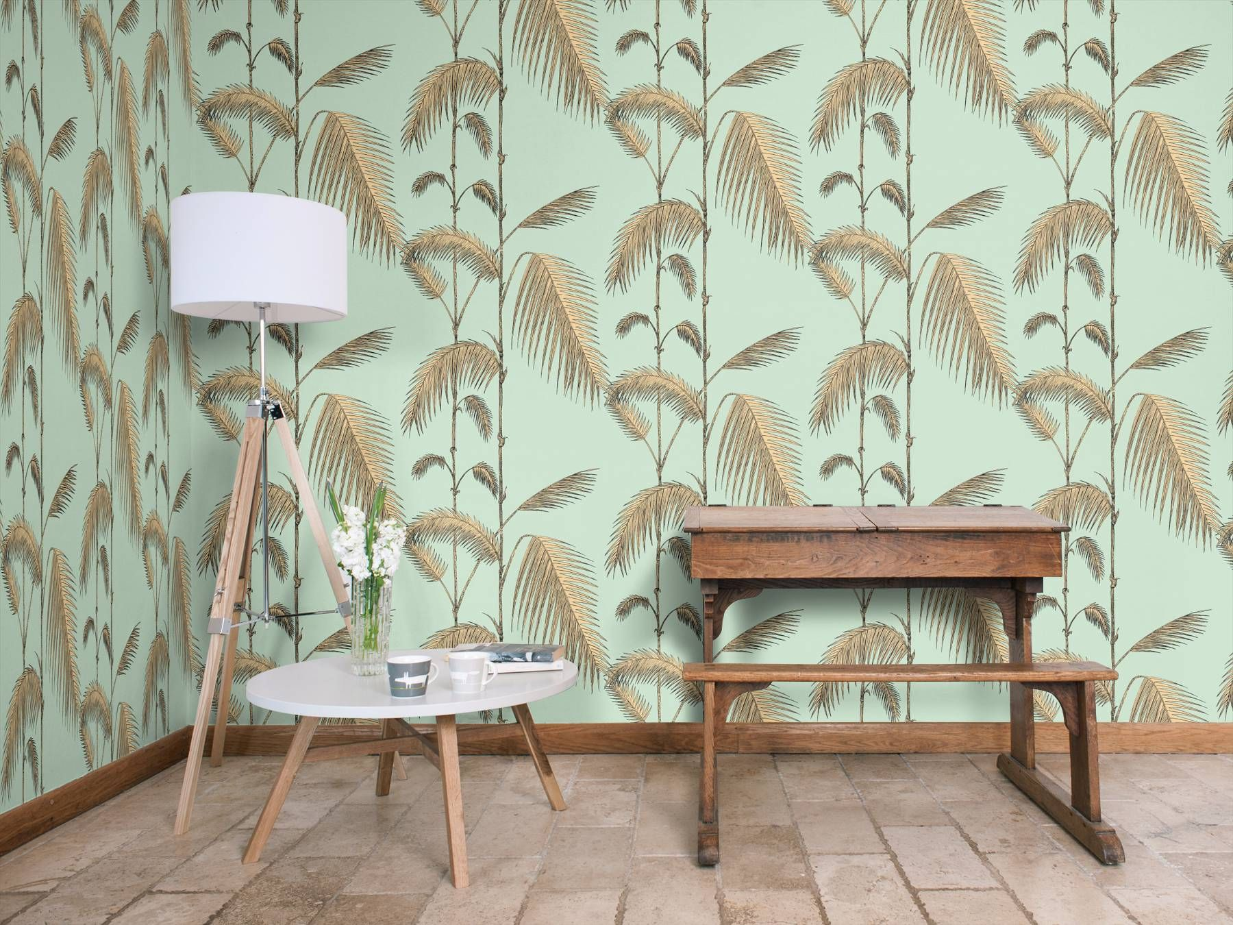 Palm Leaves Mint and Sand by Cole & Son Wallpaper 112