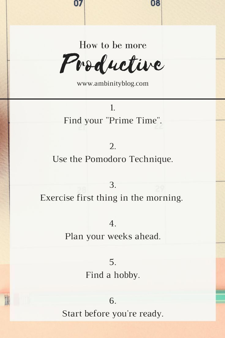 How To Be More Productive | Productivity Hacks, Productivity And Life Skills