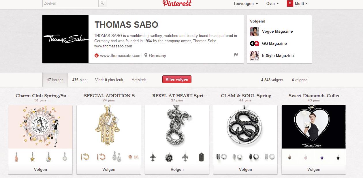 Thomas Sabo, een juwelier, die zijn fans op de hoogte houdt van zijn laatste creaties.  http://pinterest.com/thomassabo/