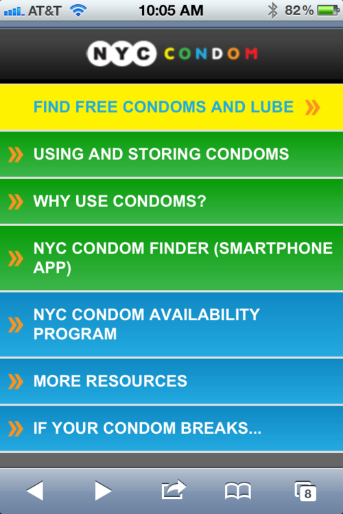NYC Condom Finder smartphone app #Safesex #Campaign #digital