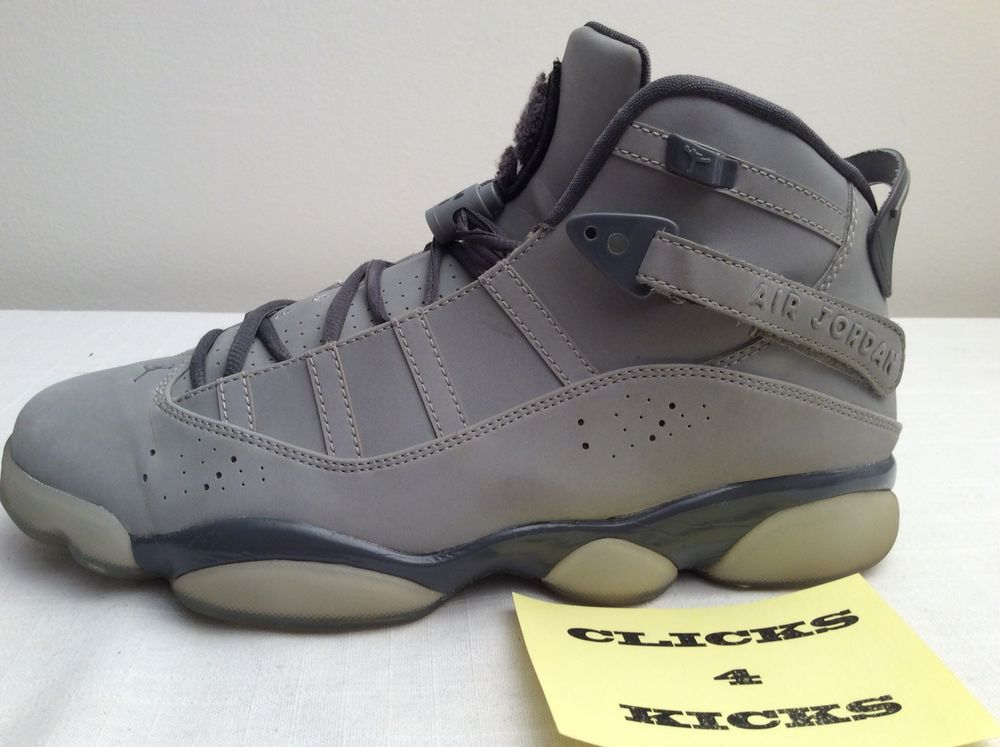 52781955ce6c NIKE AIR JORDAN 6 RINGS 3M RETRO REFLECTIVE  322992-001  SIZE 10 WOLF GREY   Nike  BasketballShoes