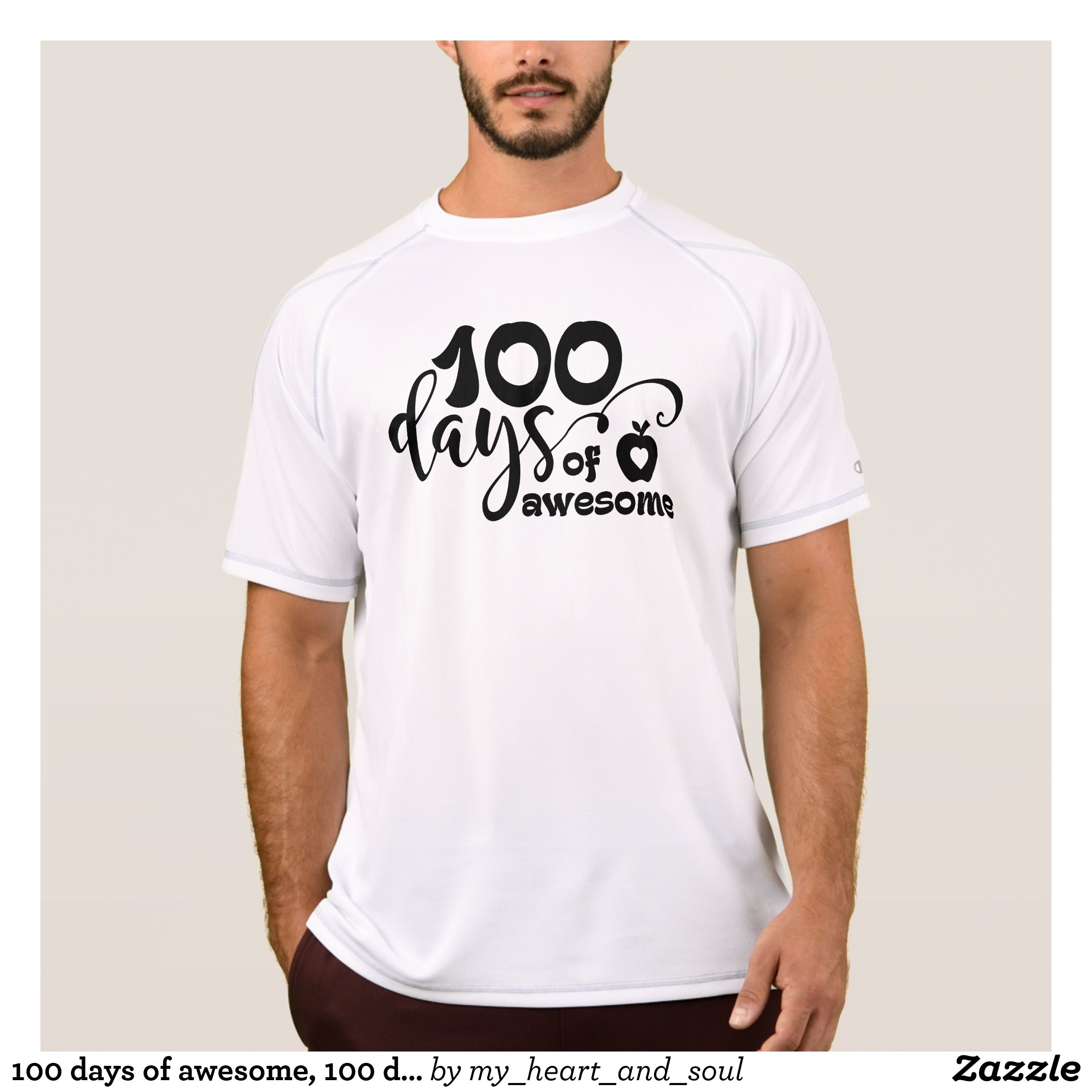 33107420bab 100 days of awesome, 100 days of school T-Shirt | Zazzle.com | 100th ...